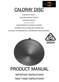 Caloray Product Manual