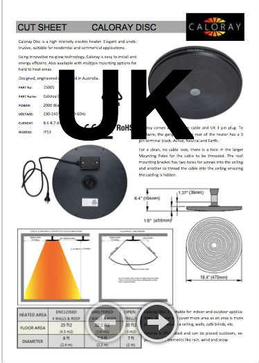 Caloray Product Cut Sheet