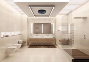 Elegant bathroom heating